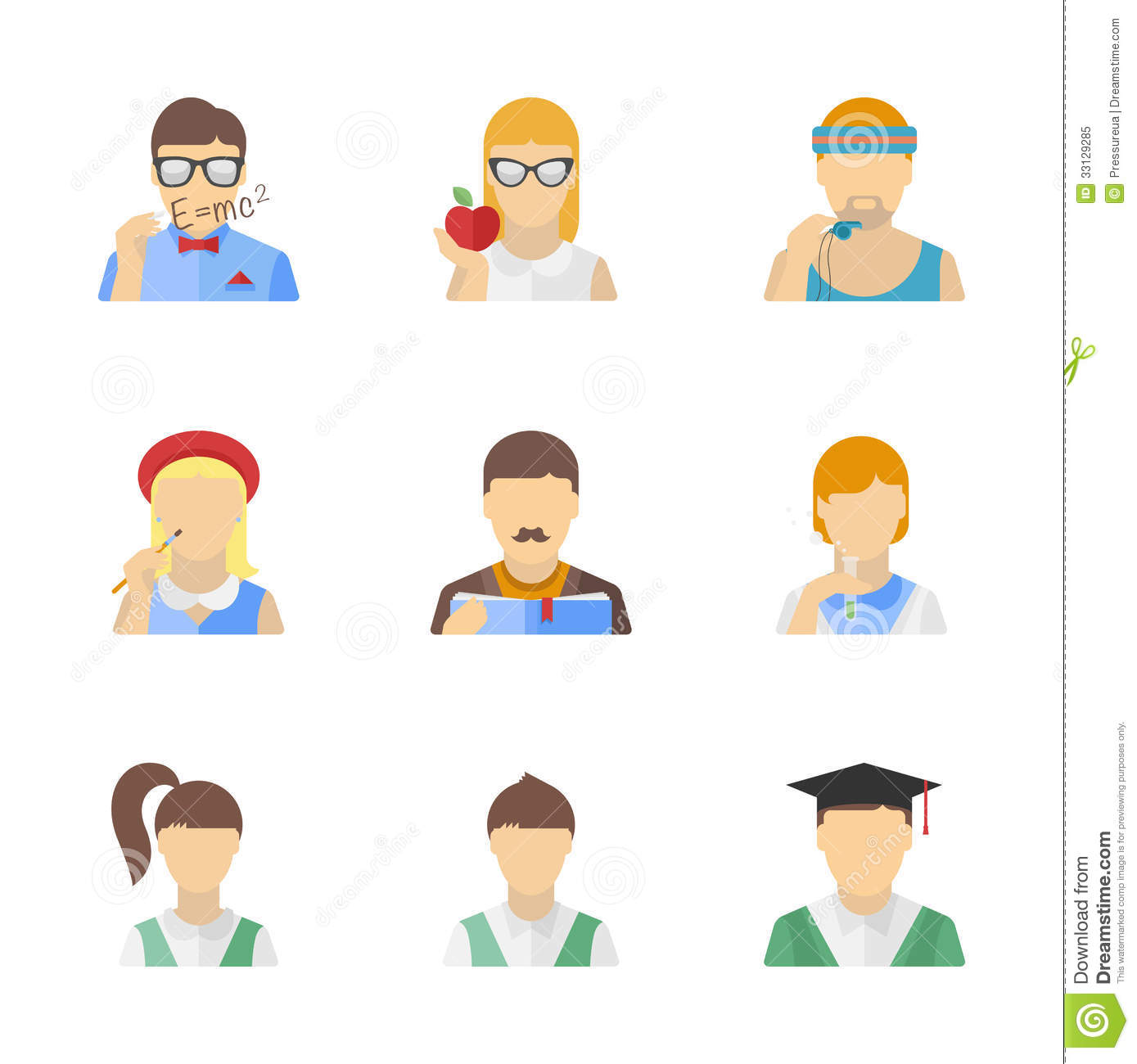 Students And Teachers Characters Set Royalty Free Stock Photo ...