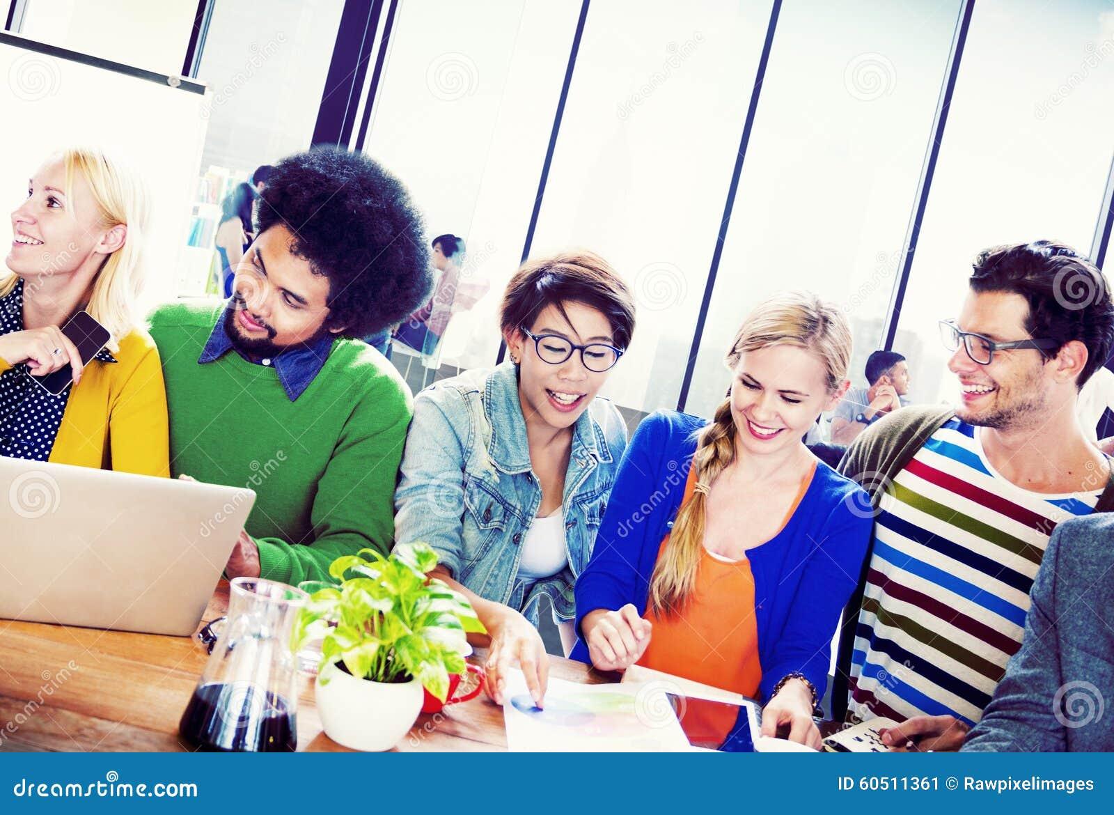 Students University Learning Communication Concept