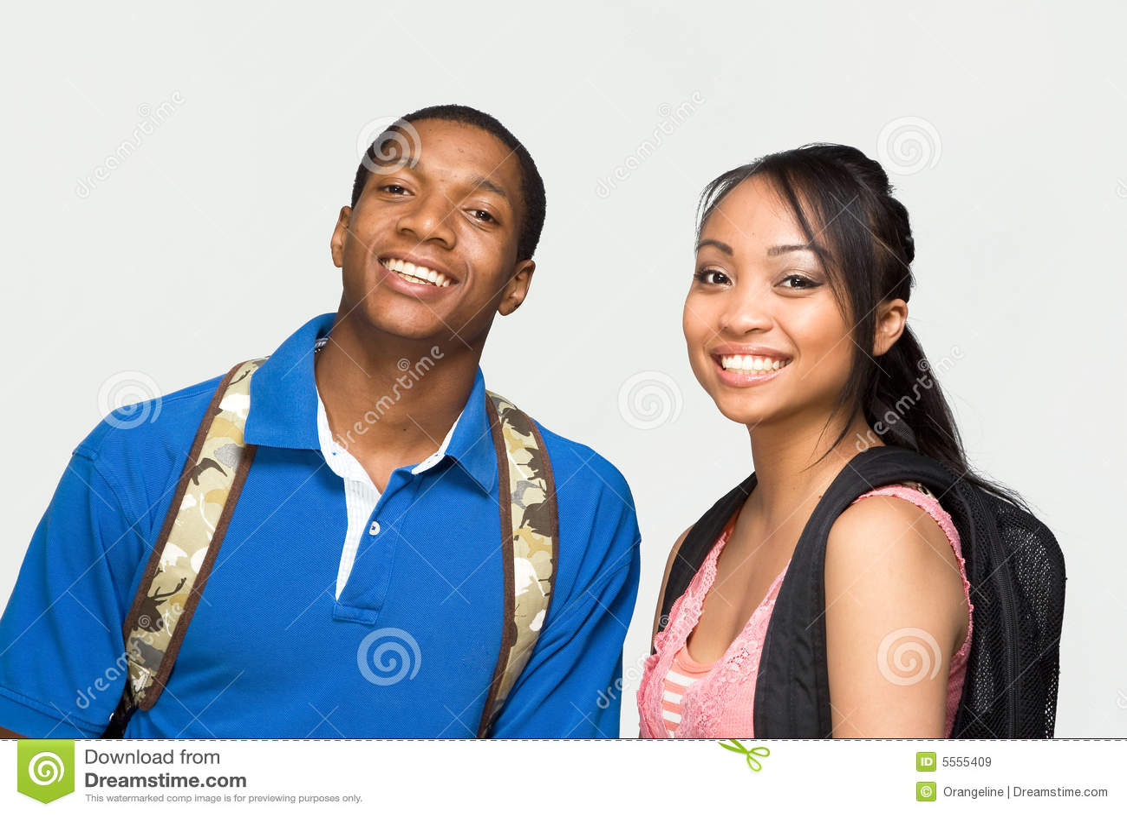 Students Wearing Backpacks - Horizontal