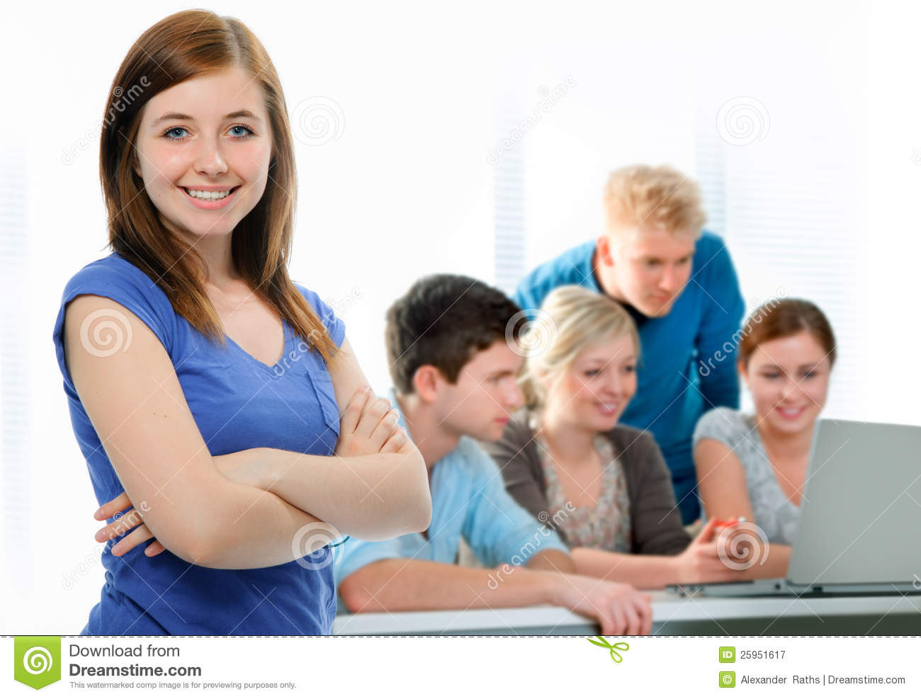 ... Free Stock Photography: Students working together in a classroom