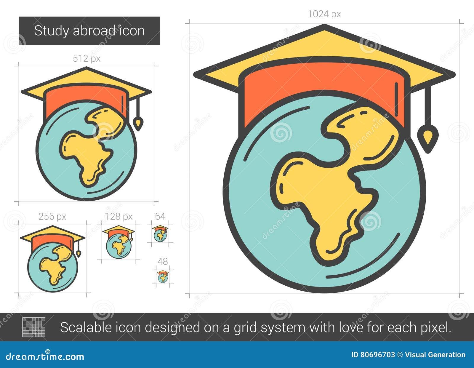 Studien utomlands fodrar symbolen