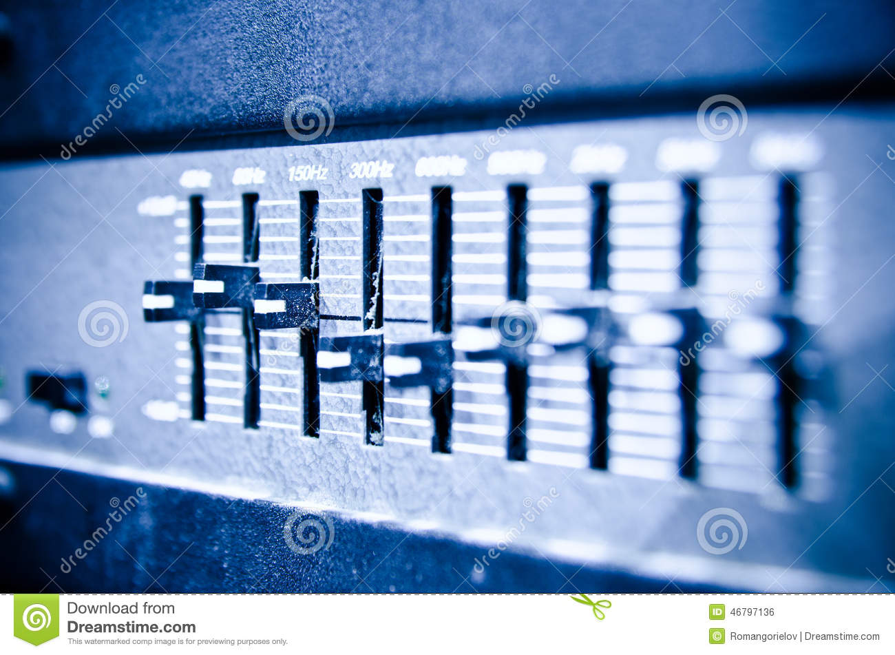 Studio Amplifier Stock Illustration - Image: 46797136