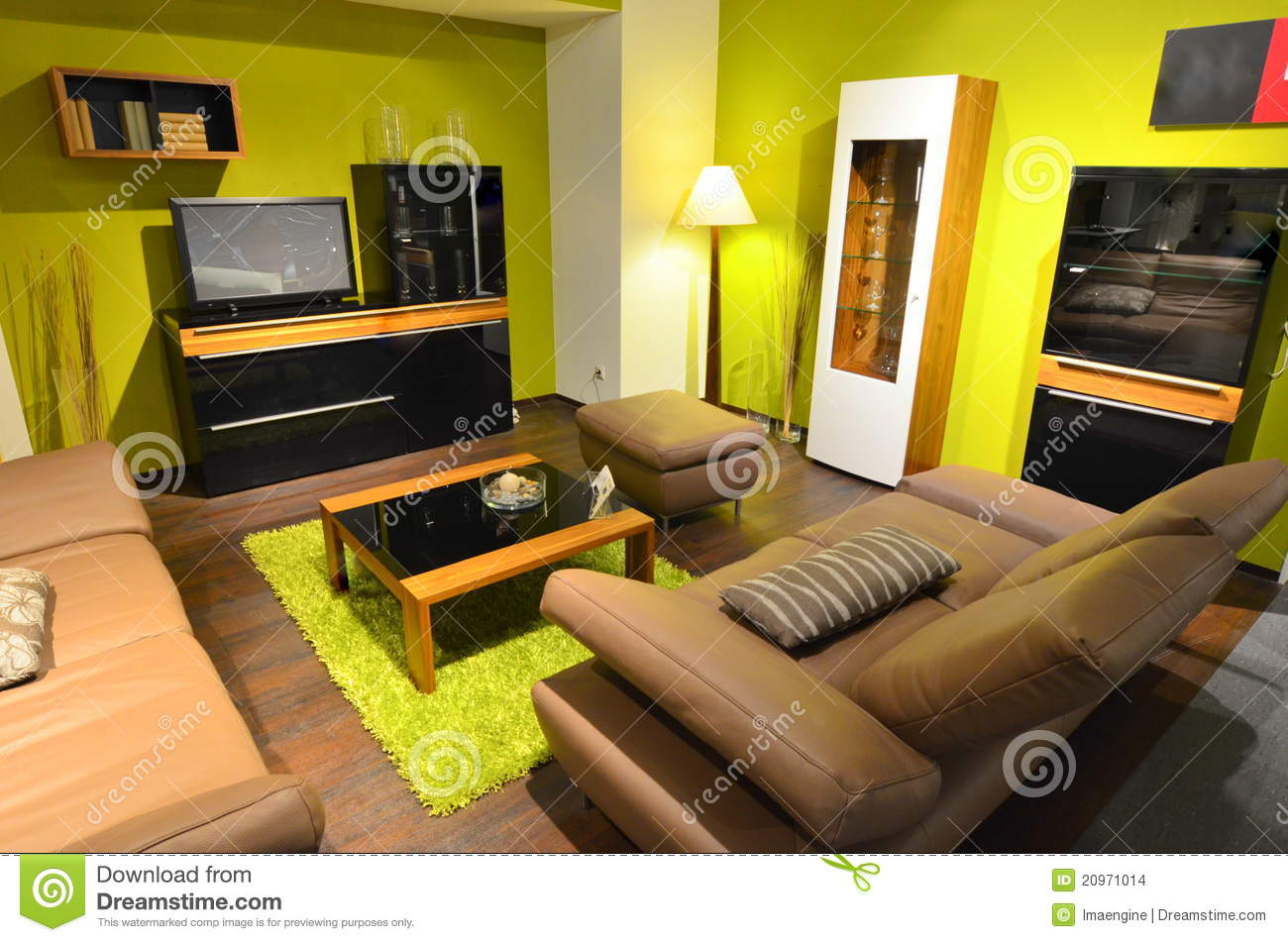 Studio Apartment Living Room Area Stock Images Image