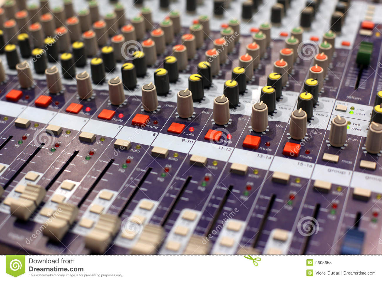 Studio audio mixer