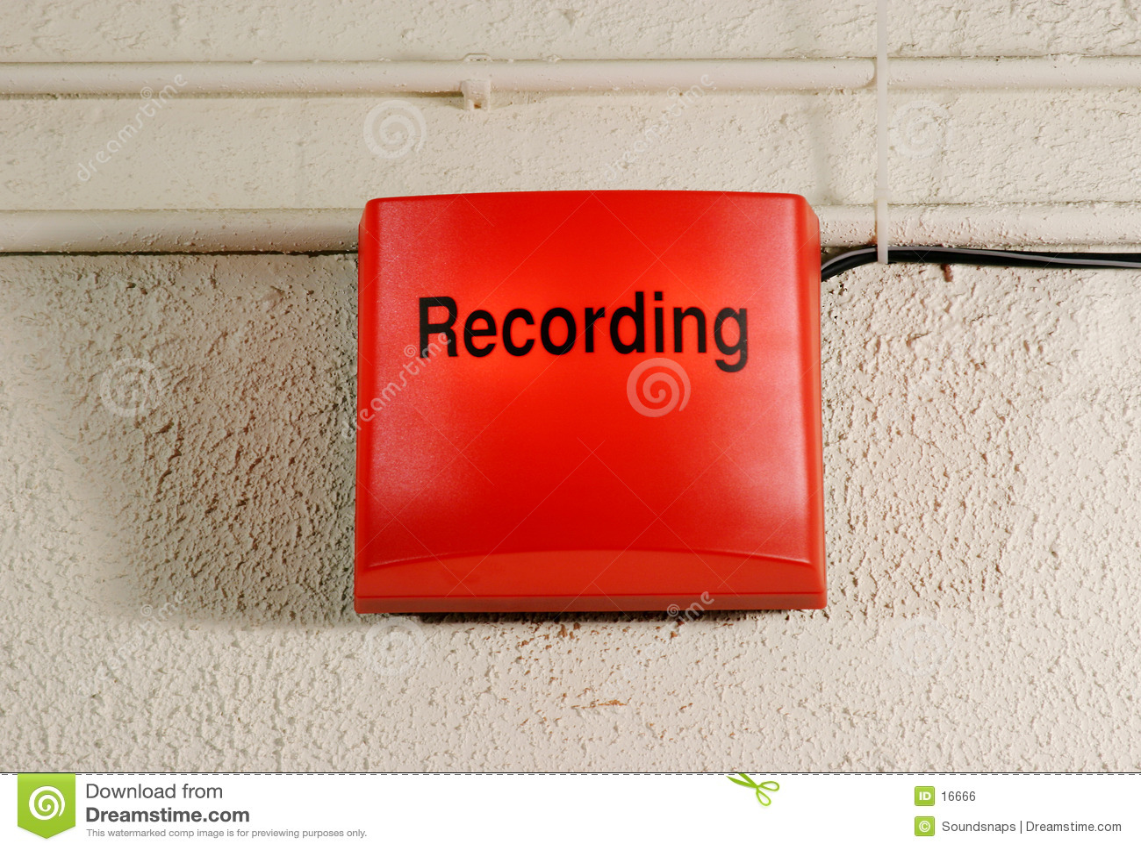 Studio-Aufnahme-Zeichen