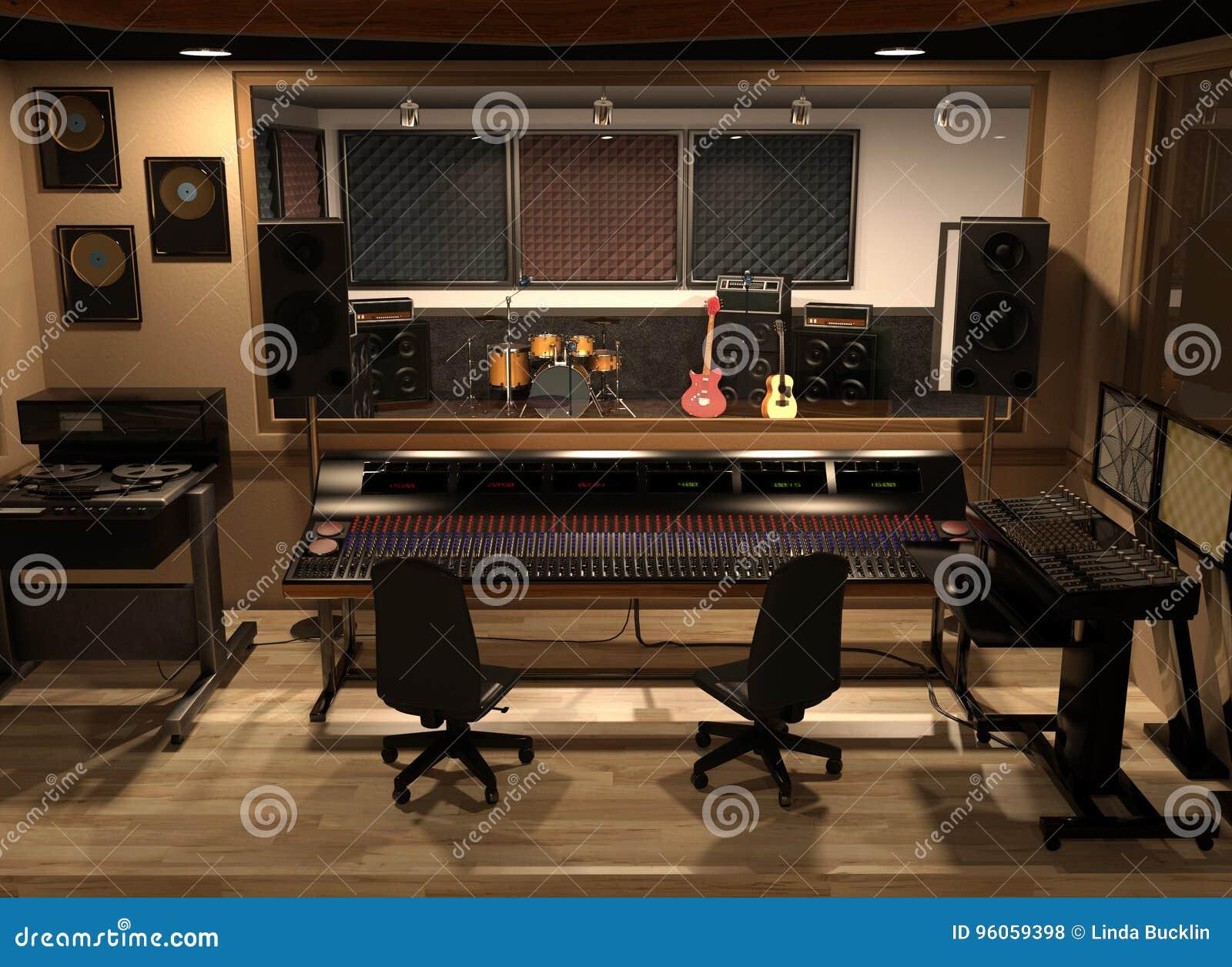 Studio d enregistrement sonore