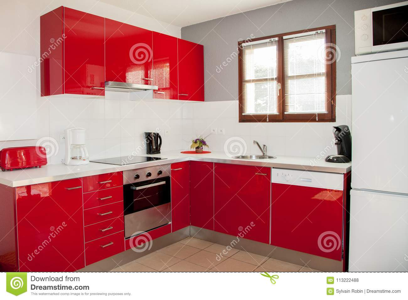 Rote Mikrowelle Stock Images - 103 Photos