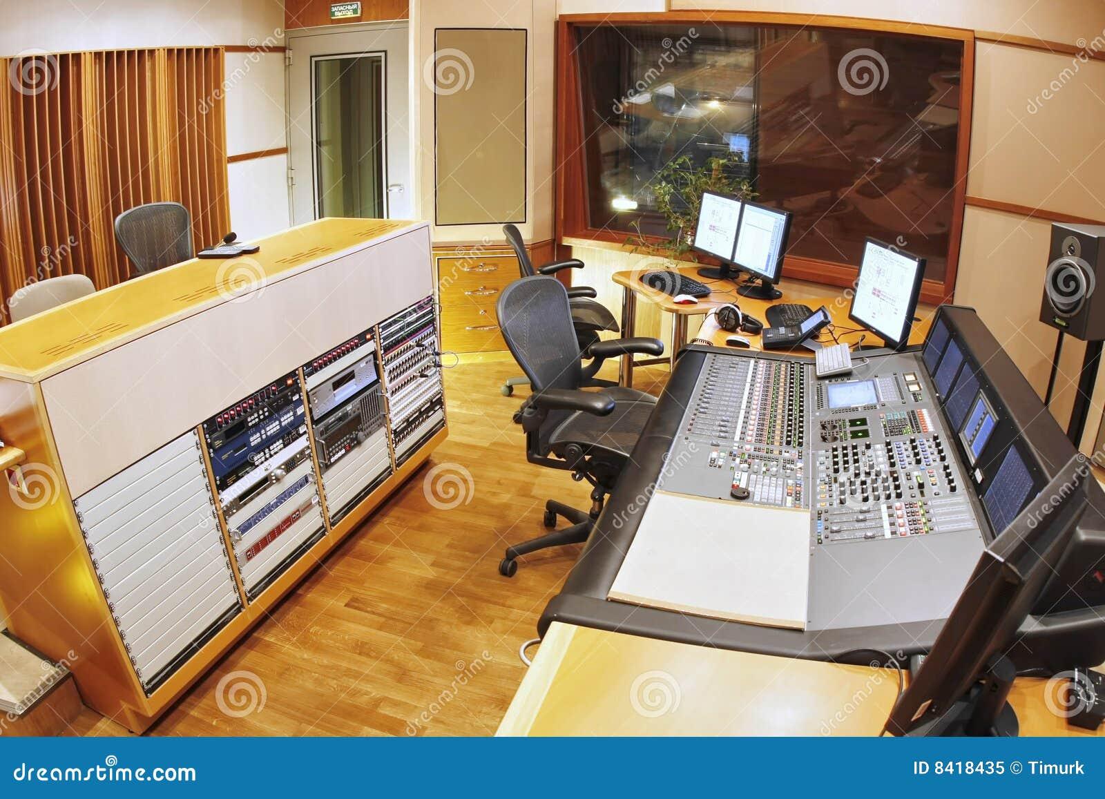 Studio di registrazione immagine stock immagine di classico 8418435 - Studio di registrazione casalingo ...