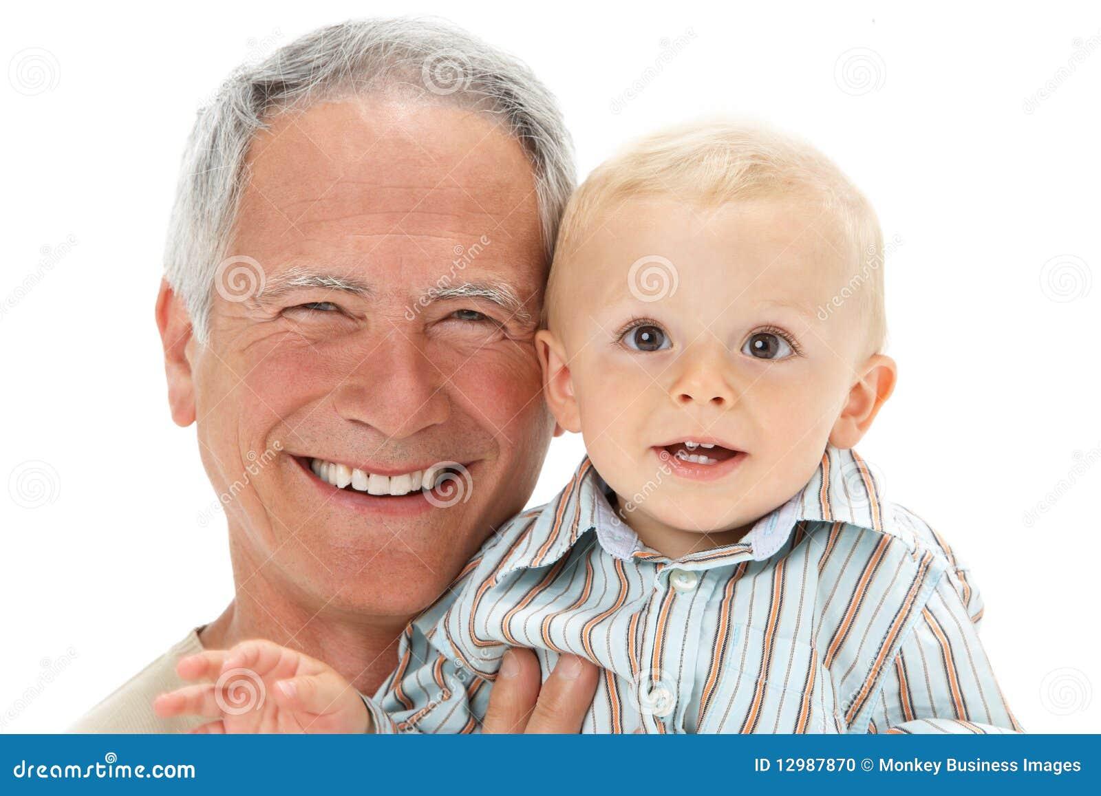 Studio för stående för farfarsonsonholding