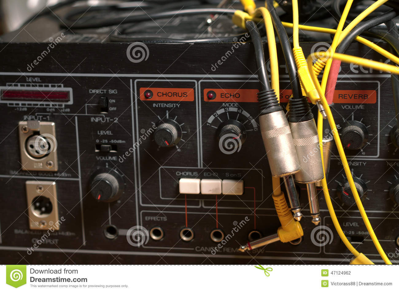 Sound Equipment Cables : Studio gear stock photo image