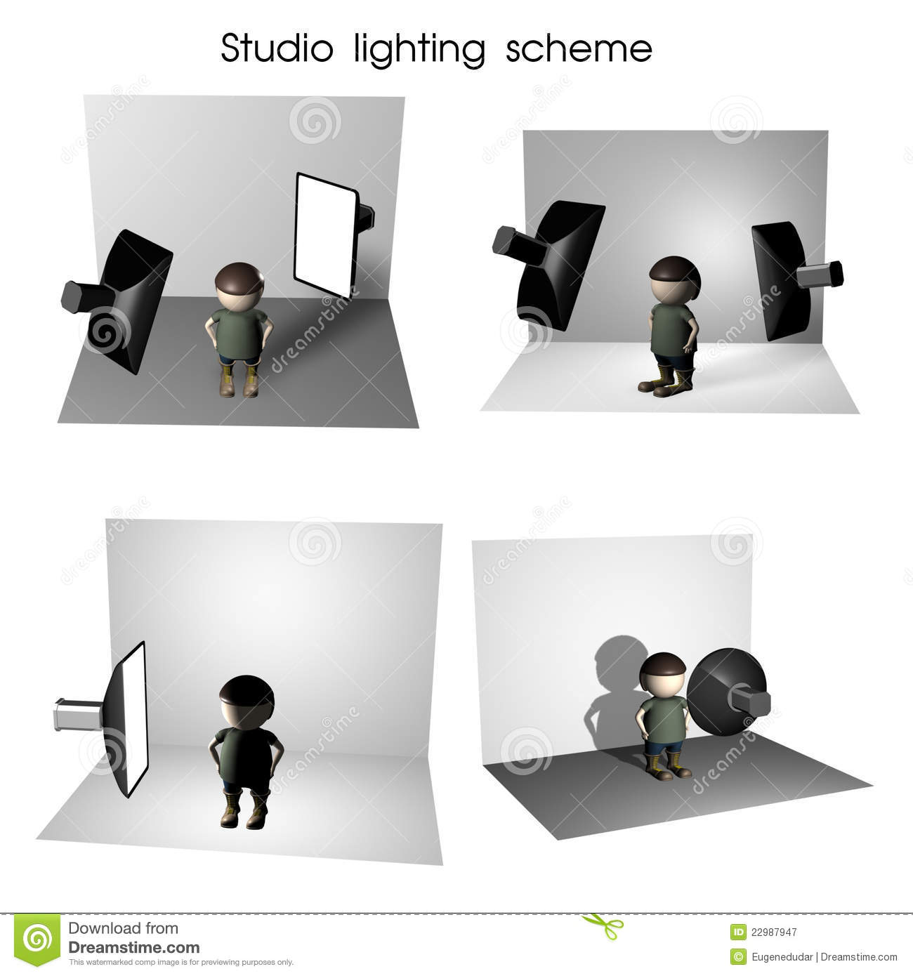 how to set camera while using lighting