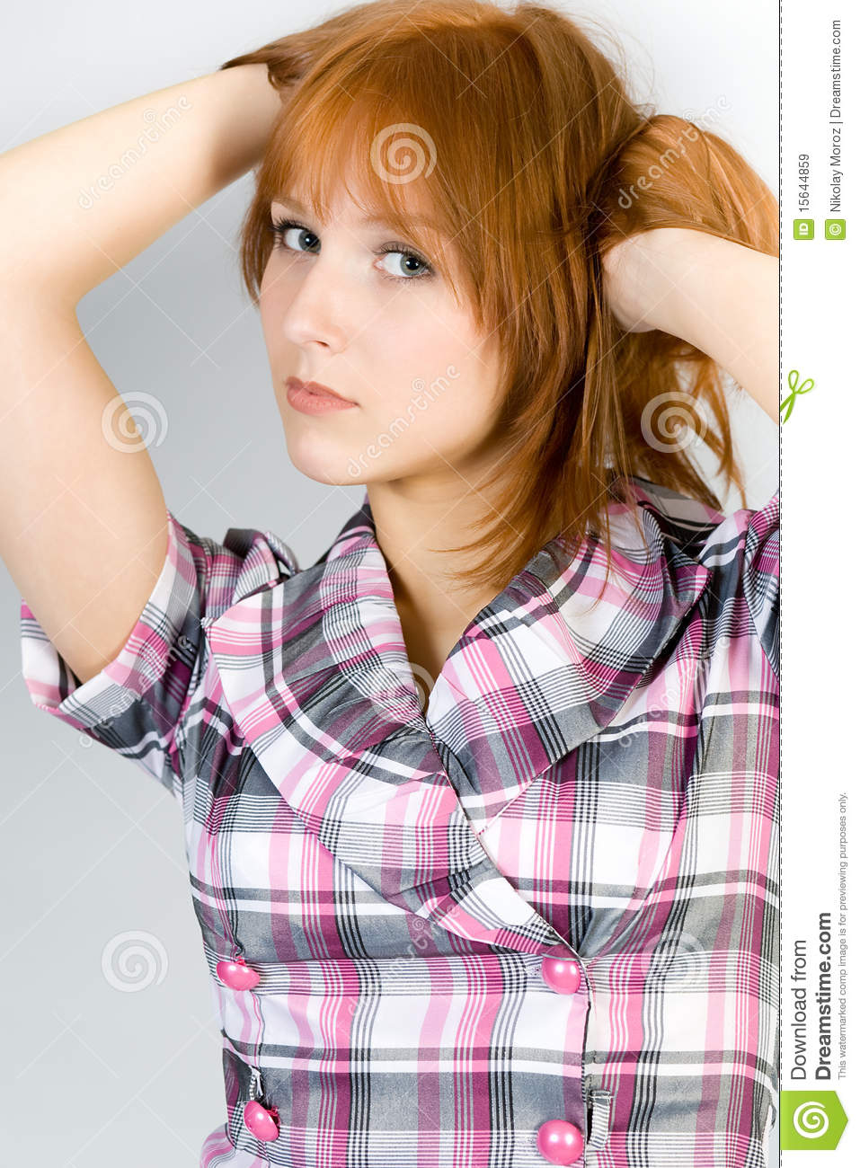 Studio Portrait Of The Beautiful Girl Stock Image - Image of ...
