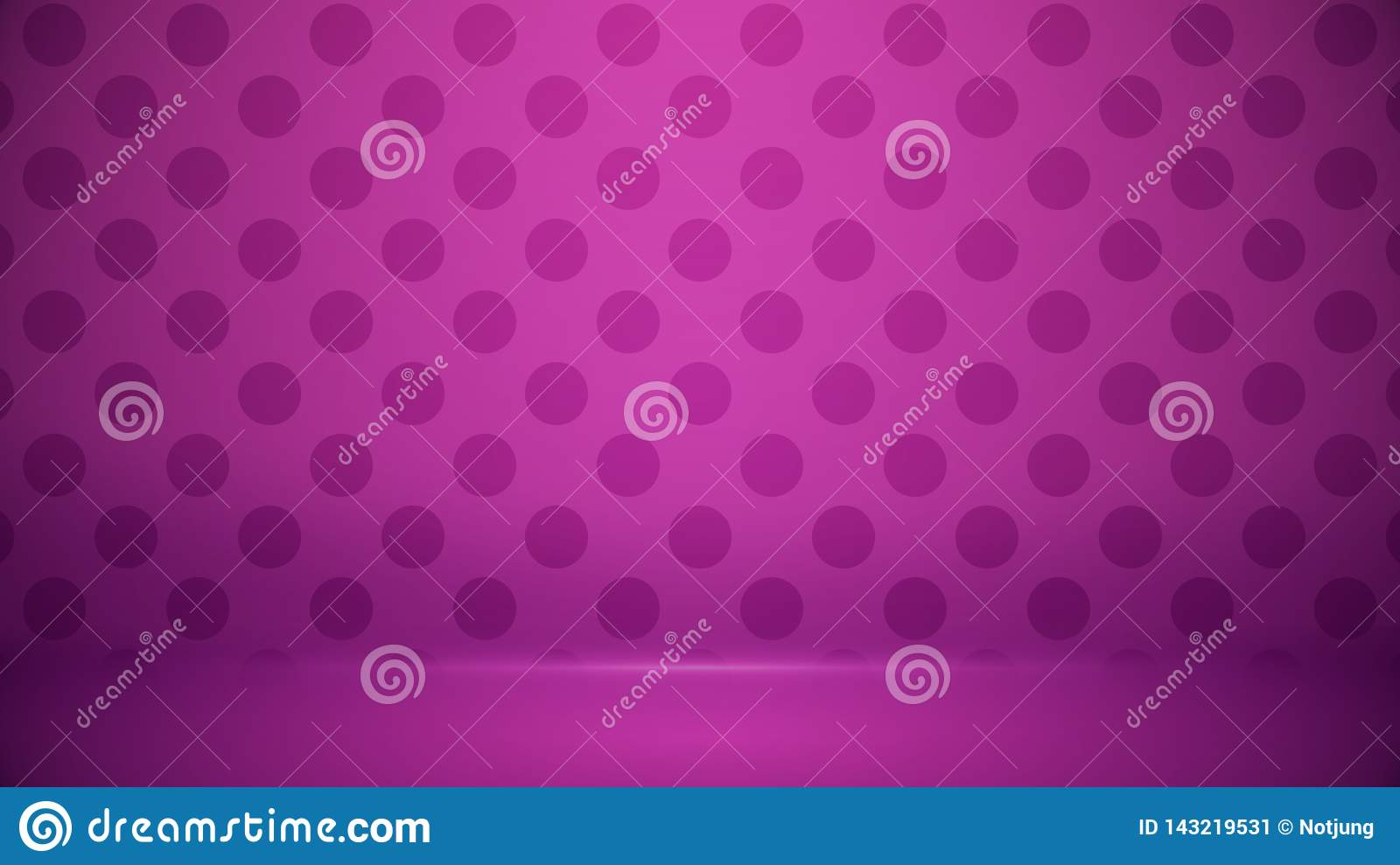 Studio room Blurred background Soft gradient pastel. With Polka dots use as Business backdrop, Template mock up for display of