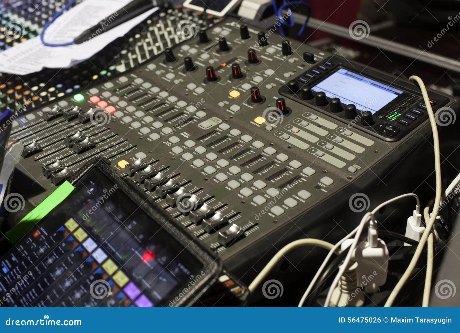 Studio sain ajustant l équipement record
