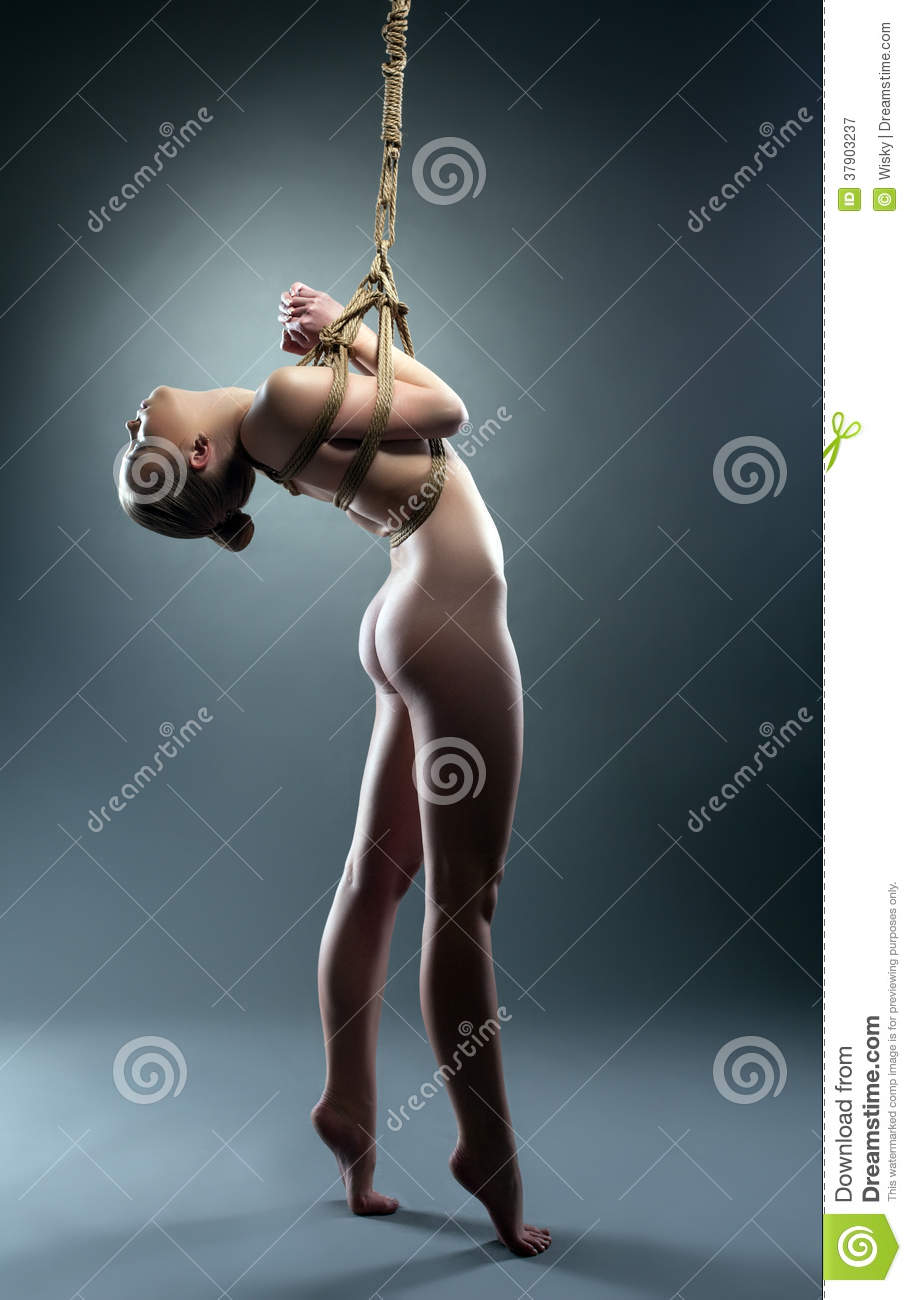 nude girl with rope