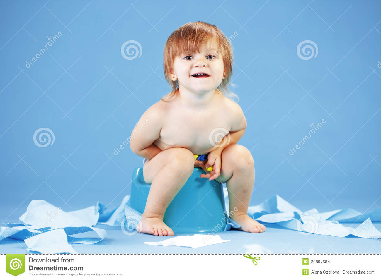 Cute Toddler On Potty Chait Stock Images Image 29897684