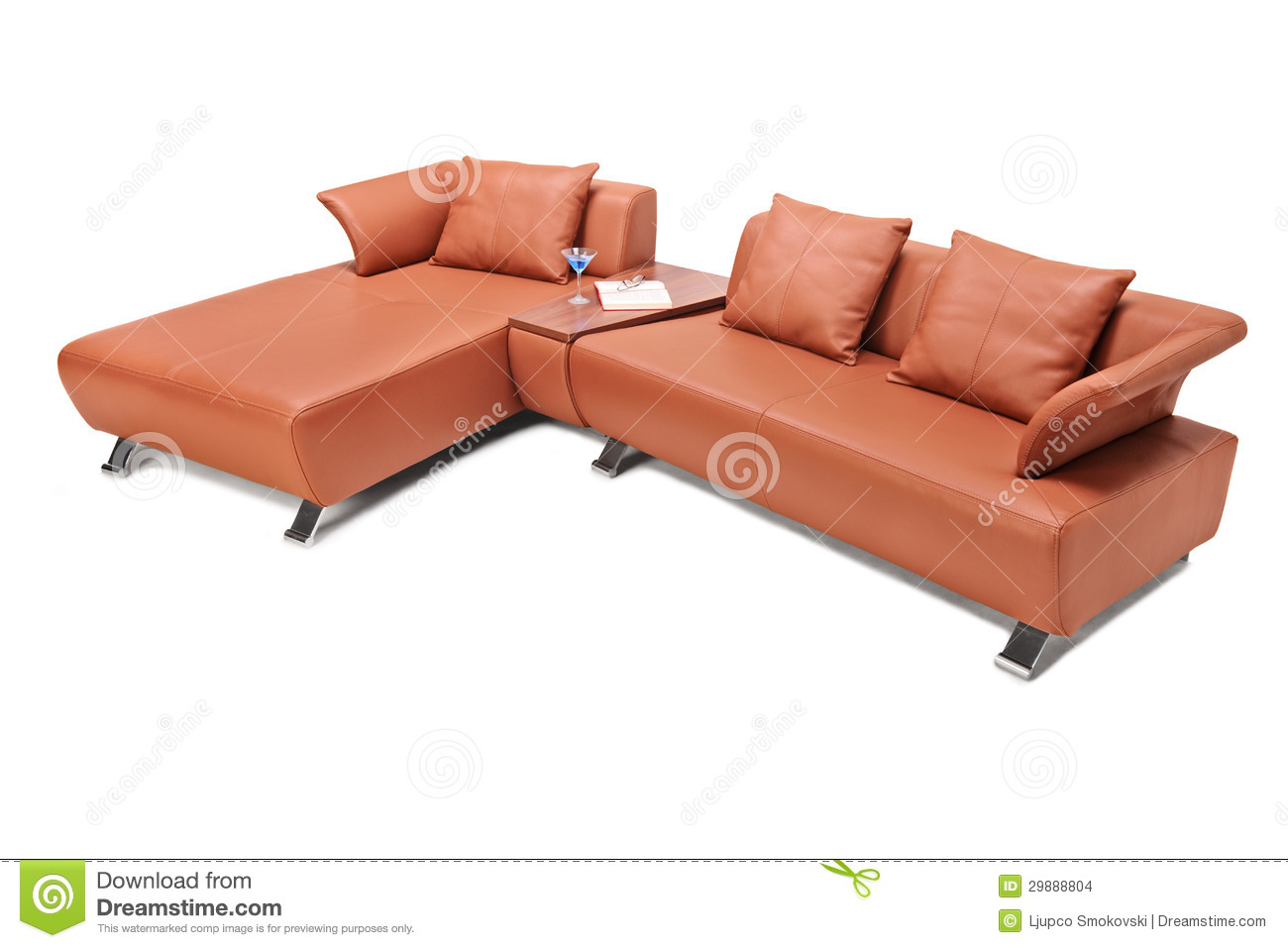 brown leather sofa isolated - photo #12