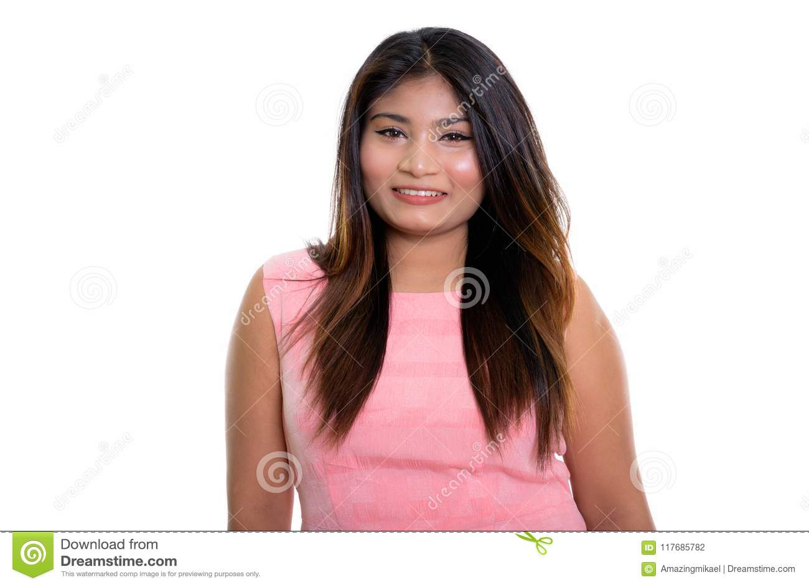 smiling Fat girl