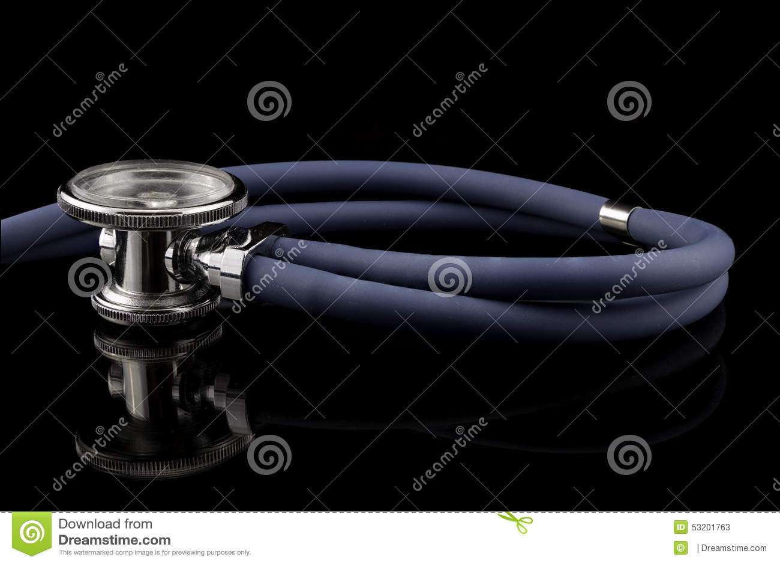 Studio sparato dello stetoscopio con la riflessione