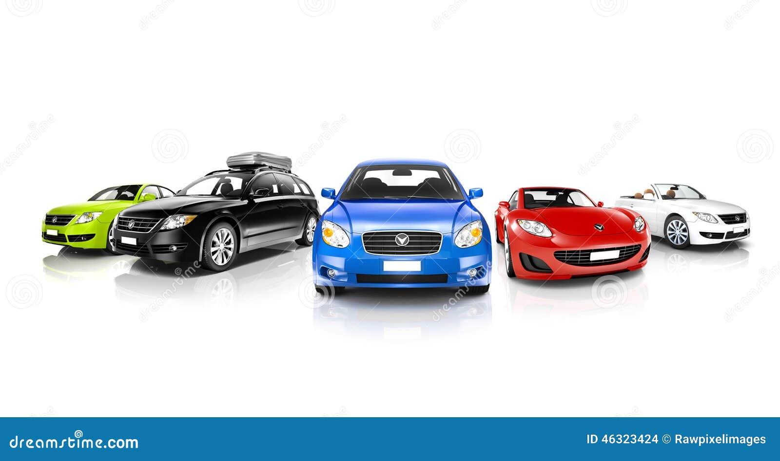 studio tir des voitures g n riques color es photo stock image 46323424. Black Bedroom Furniture Sets. Home Design Ideas