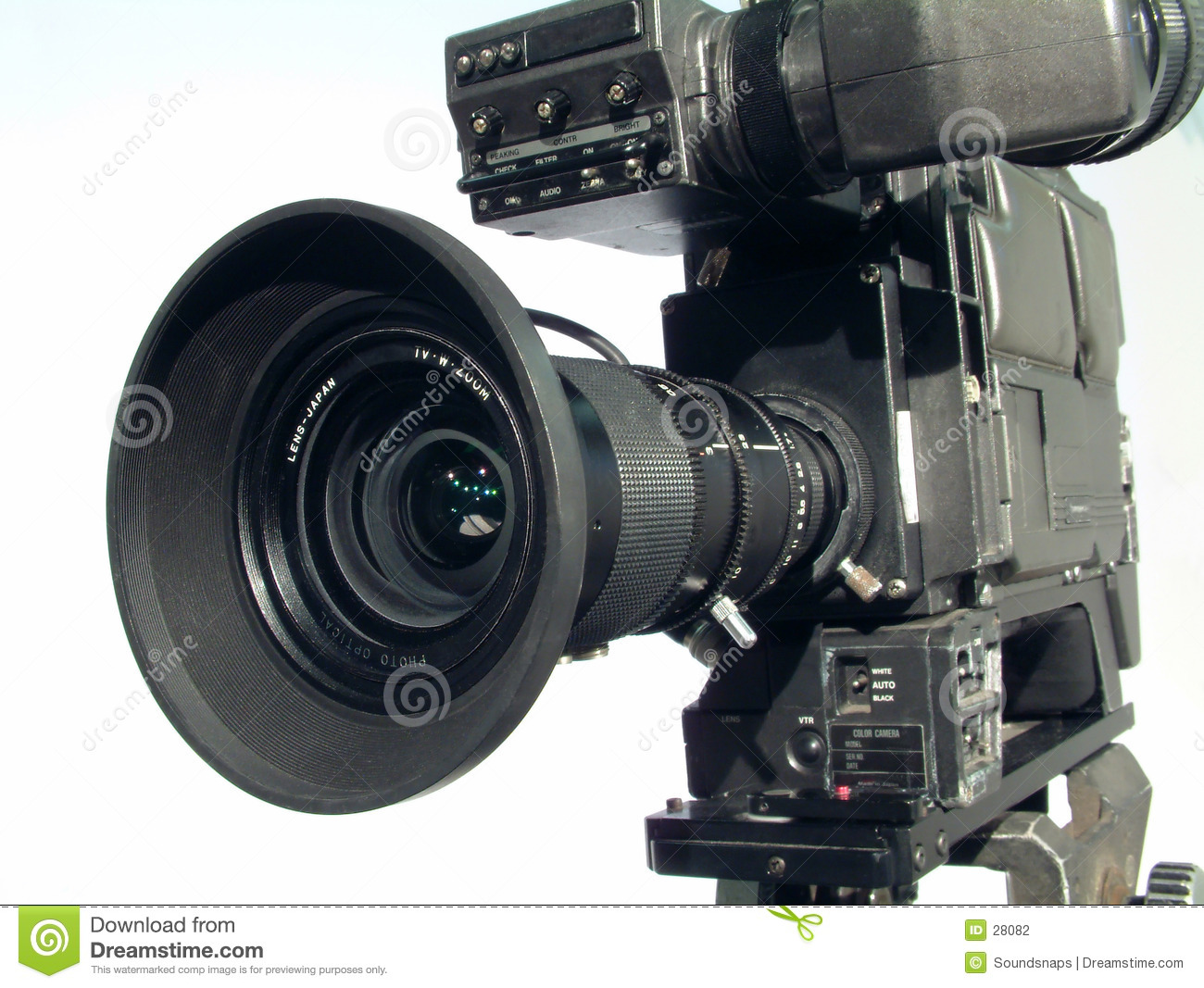 Retro Television Studio Camera Royalty Free Stock Photo - Image ...