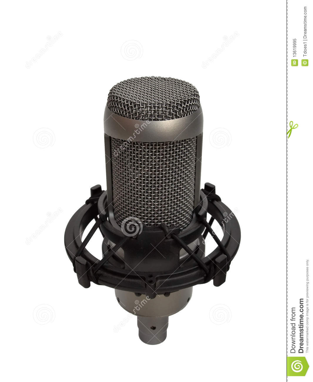 studio vocal microphone isolated 2 royalty free stock photo image 13619995. Black Bedroom Furniture Sets. Home Design Ideas
