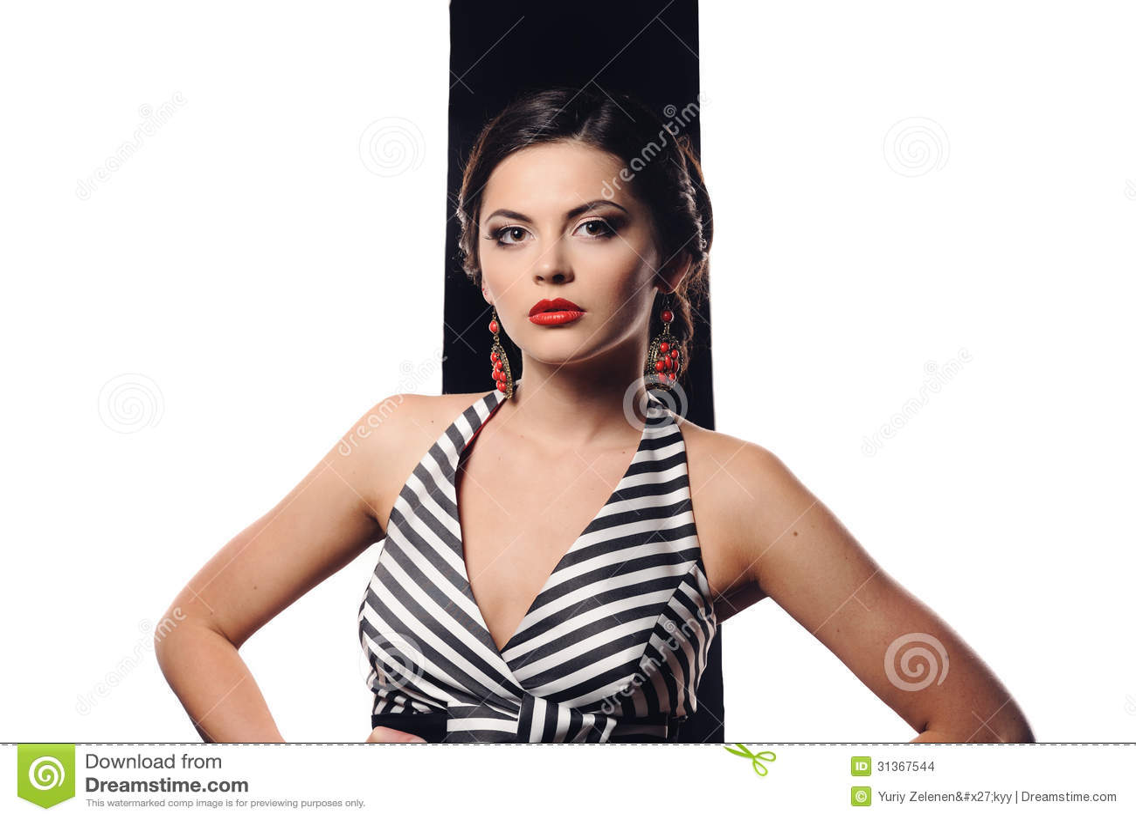 Studioportret van mooi sexy meisje