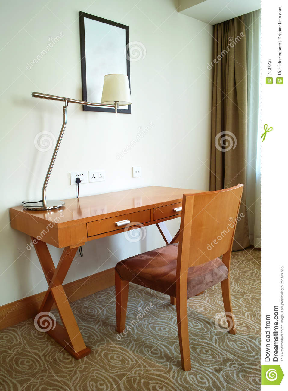 Study Desk & Chair Stock Photos - Image: 7637233
