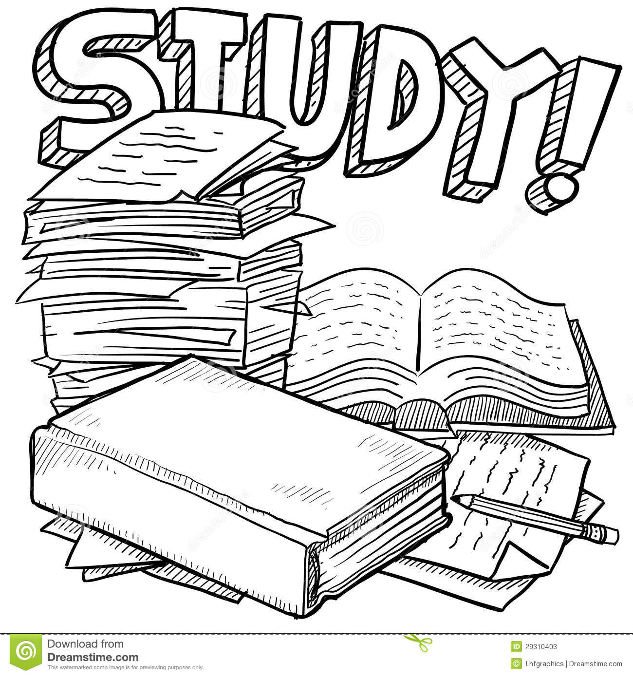Study education sketch stock vector. Image of midterm ...