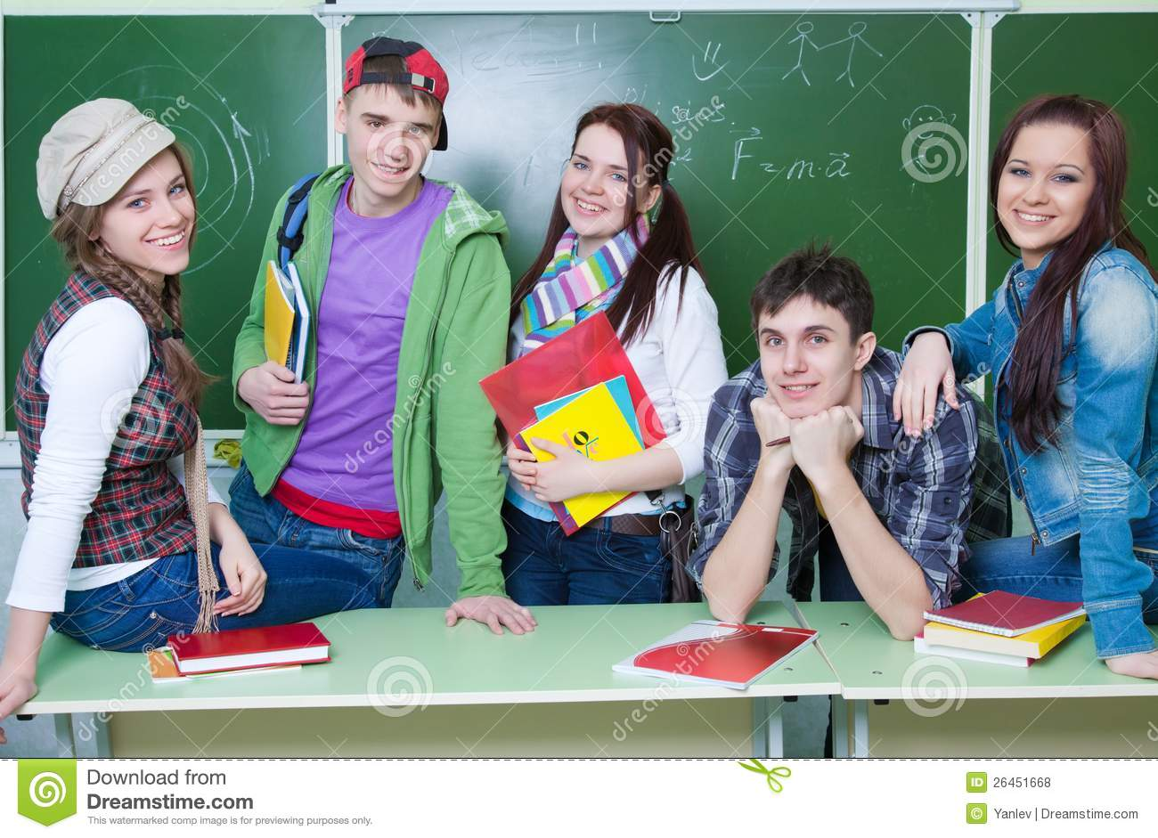 Portrait Of Study Group Royalty Free Stock Photos - Image: 9390618