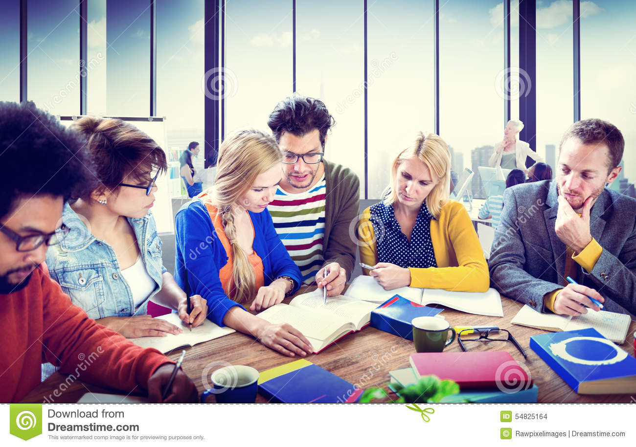 Study Group Discussion University Concept