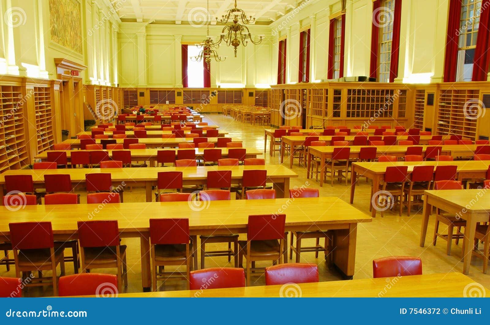 Study Hall Of University Library Stock Photography Image
