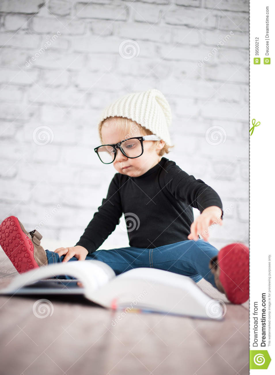 Download Study Hard With Nerd Glasses Stock Photo - Image of early, beautiful: 39500212