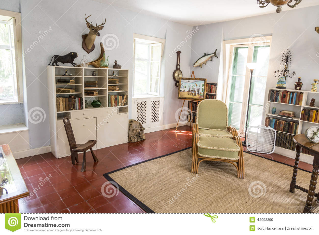 Editorial Image Study Room Ernest Hemingway Home Museum Key West Usa Aug Lived Here To Image44093390 on Hemingway House Floor Plan