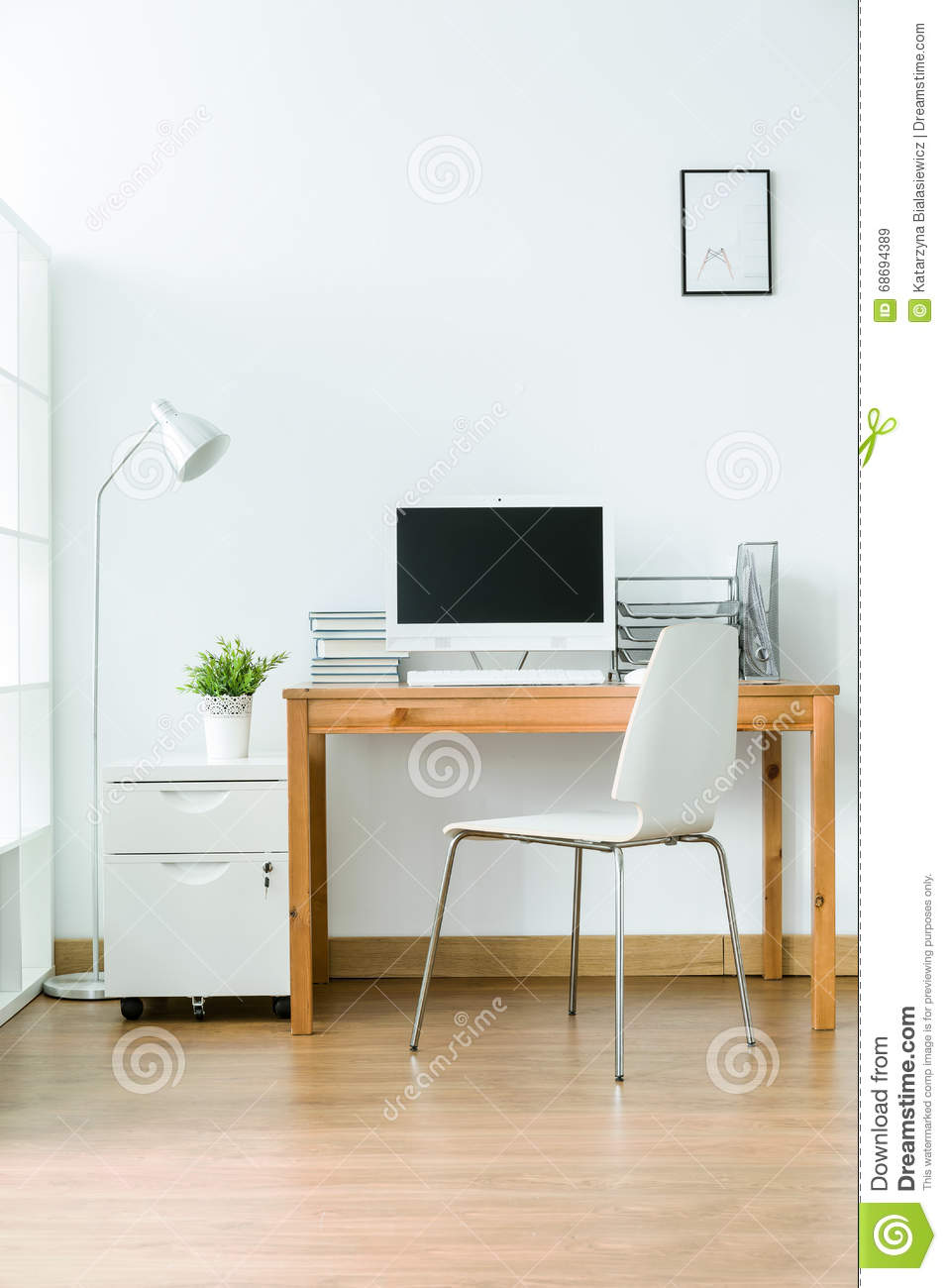 Study room in modern style stock image. Image of home ...