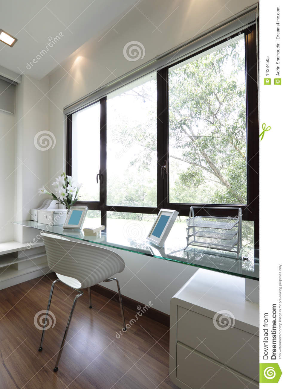Study table royalty free stock photo image 14384505 Study table facing window