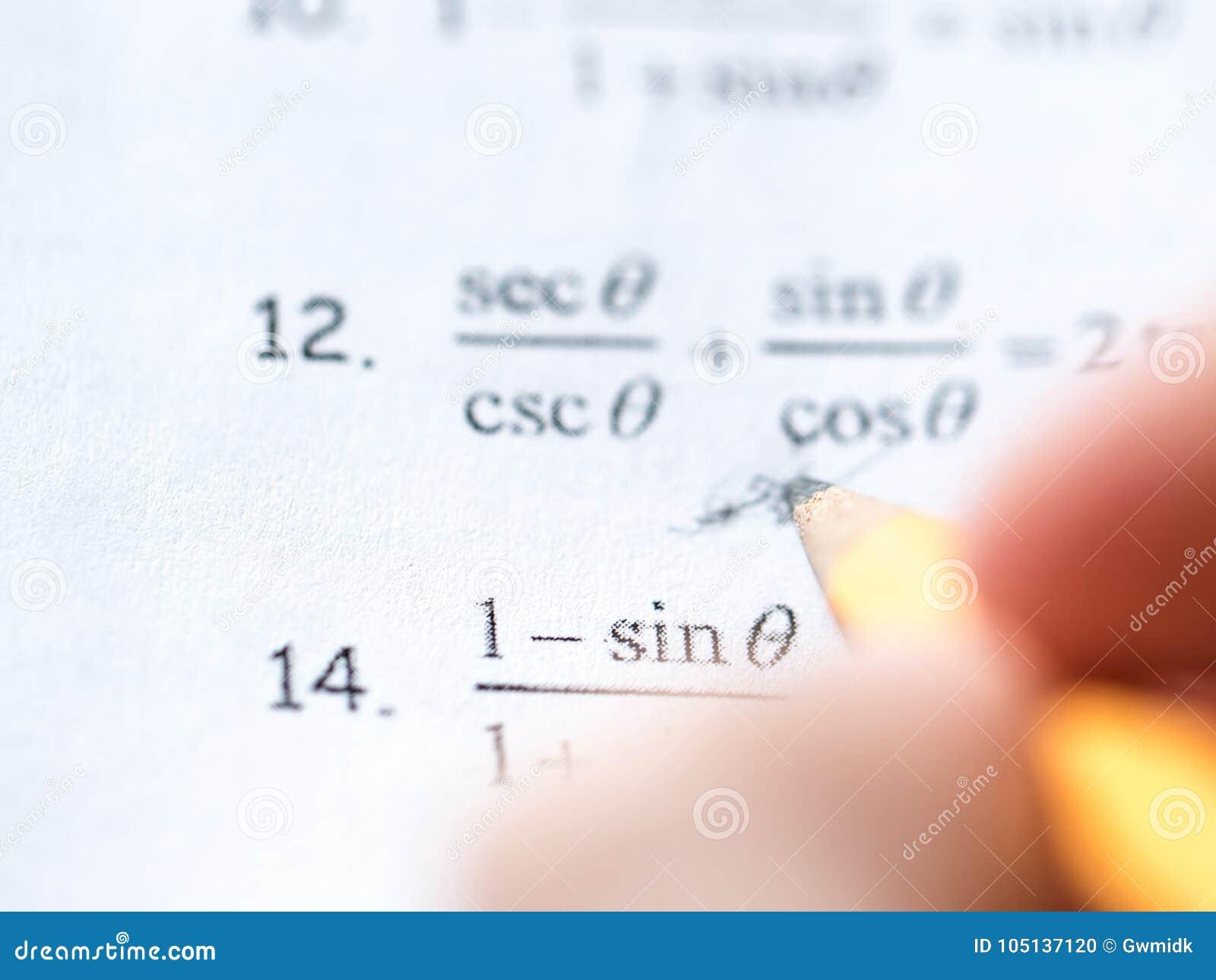 Math And Algebra Homework Preparation Stock Photo - Image of algebra ...