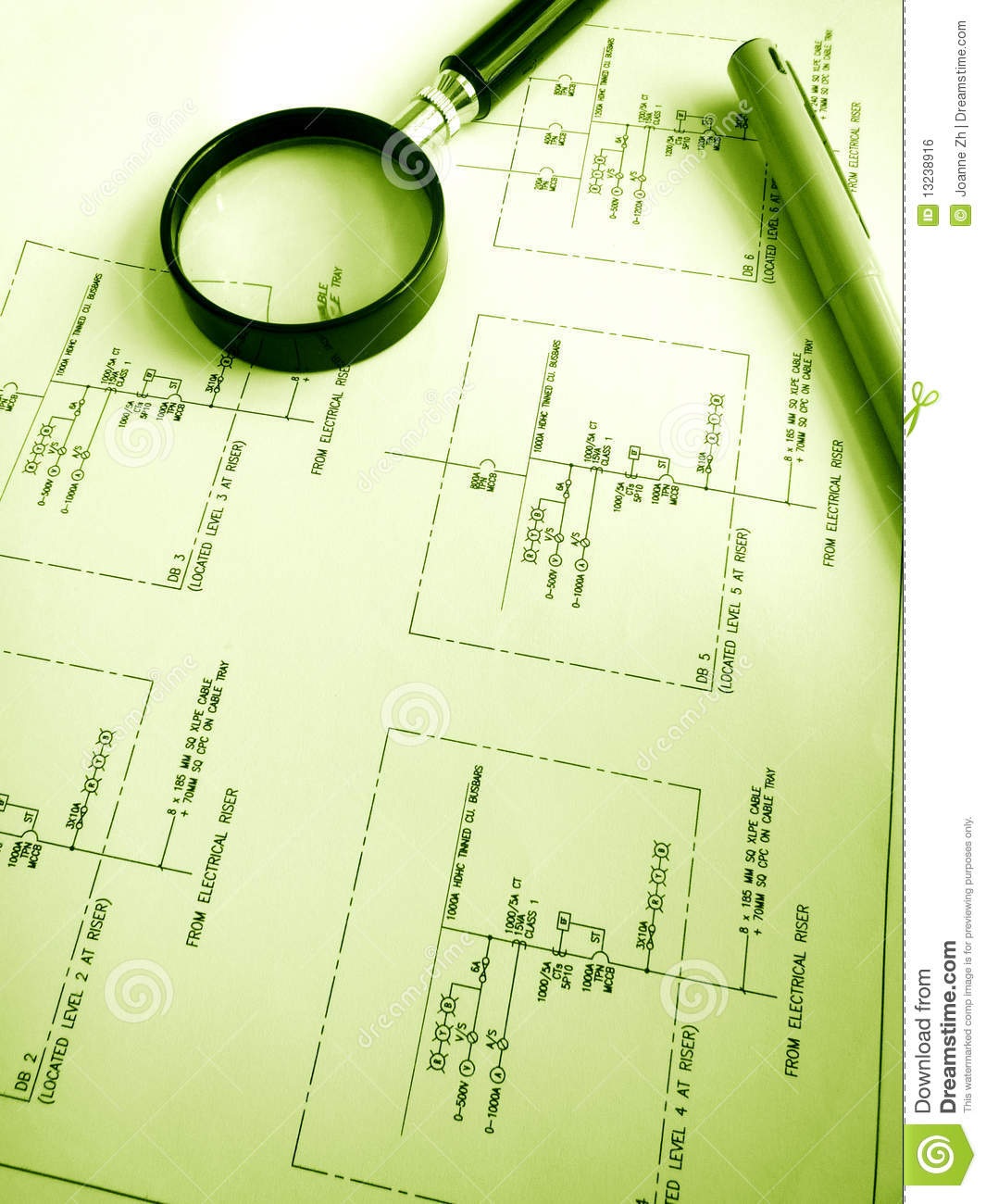 Studying electrical circuits plans royalty free stock for Planning electrical circuits