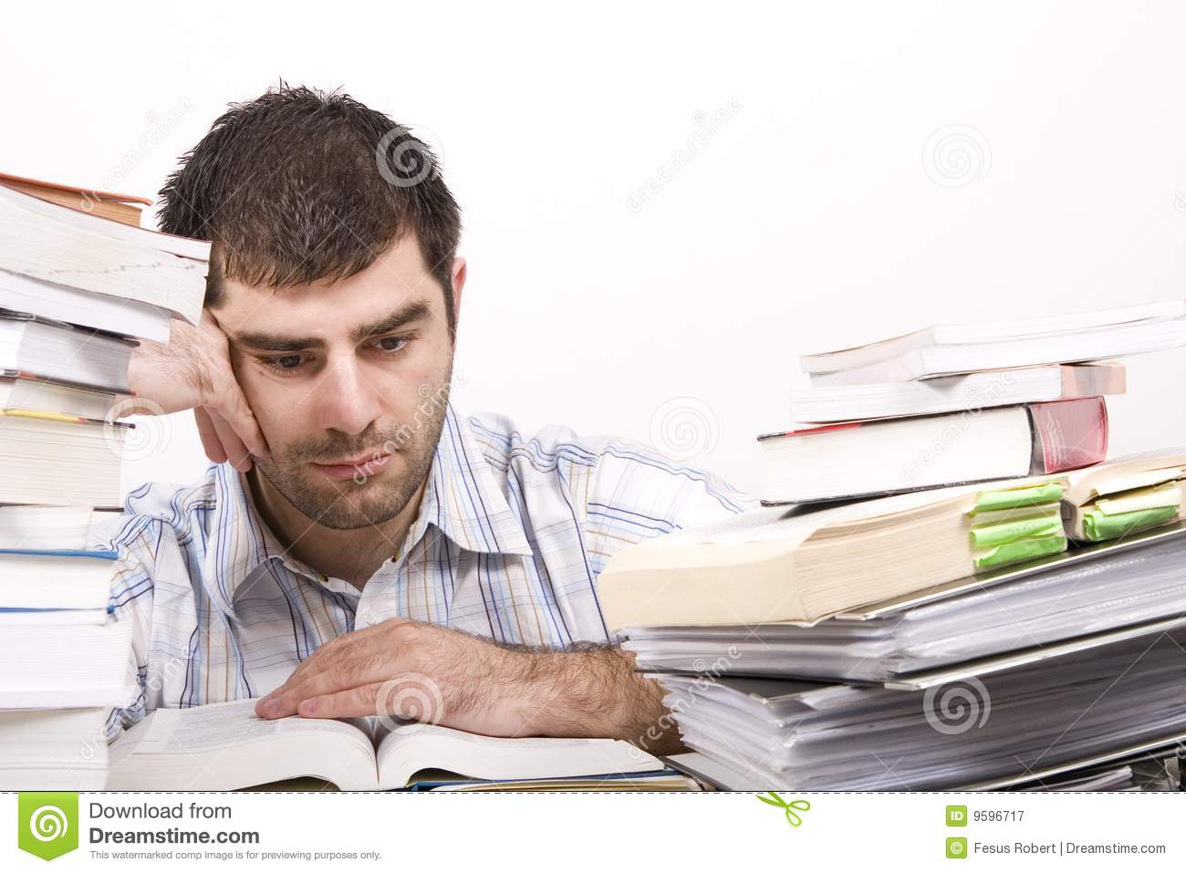 Studying Man Royalty Free Stock Photography - Image: 9596717