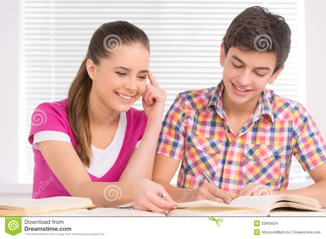 Studying Together. Stock Images - Image: 33969934