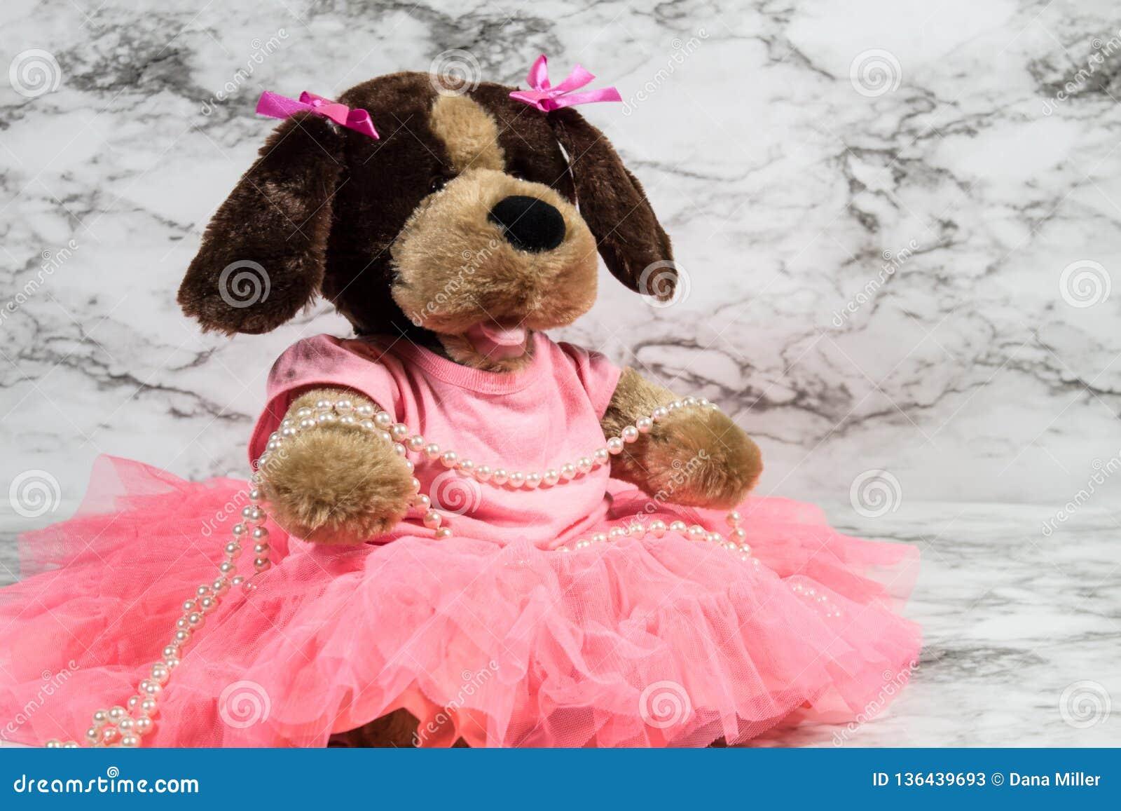 Stuffed Animal Dress Up Stock Image Image Of Tutu Jewelry 136439693