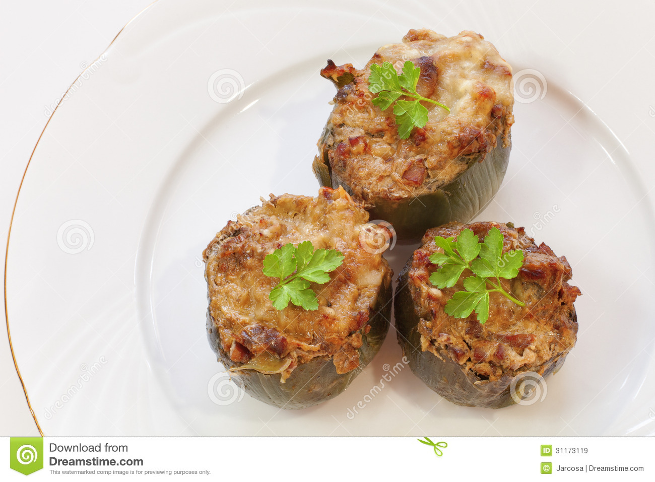 Artichoke Halves Stuffed With Meat Recipe — Dishmaps