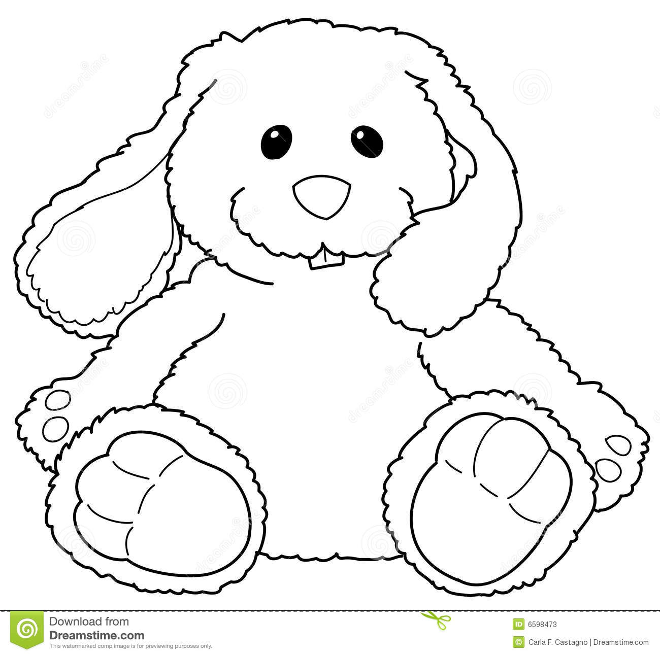 Stuffed bunny stock vector. Illustration of coloring ...