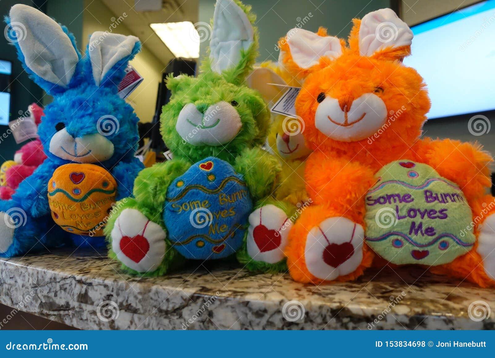 Colorful Stuffed bunny rabbits