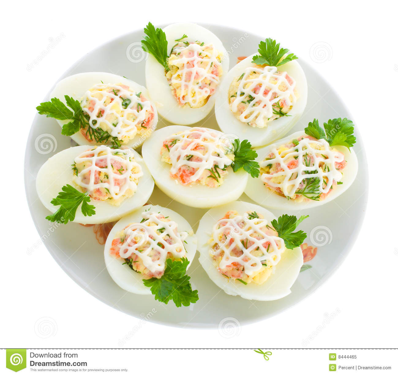 Stuffed Eggs With Red Fish Royalty Free Stock Photo - Image: 8444465