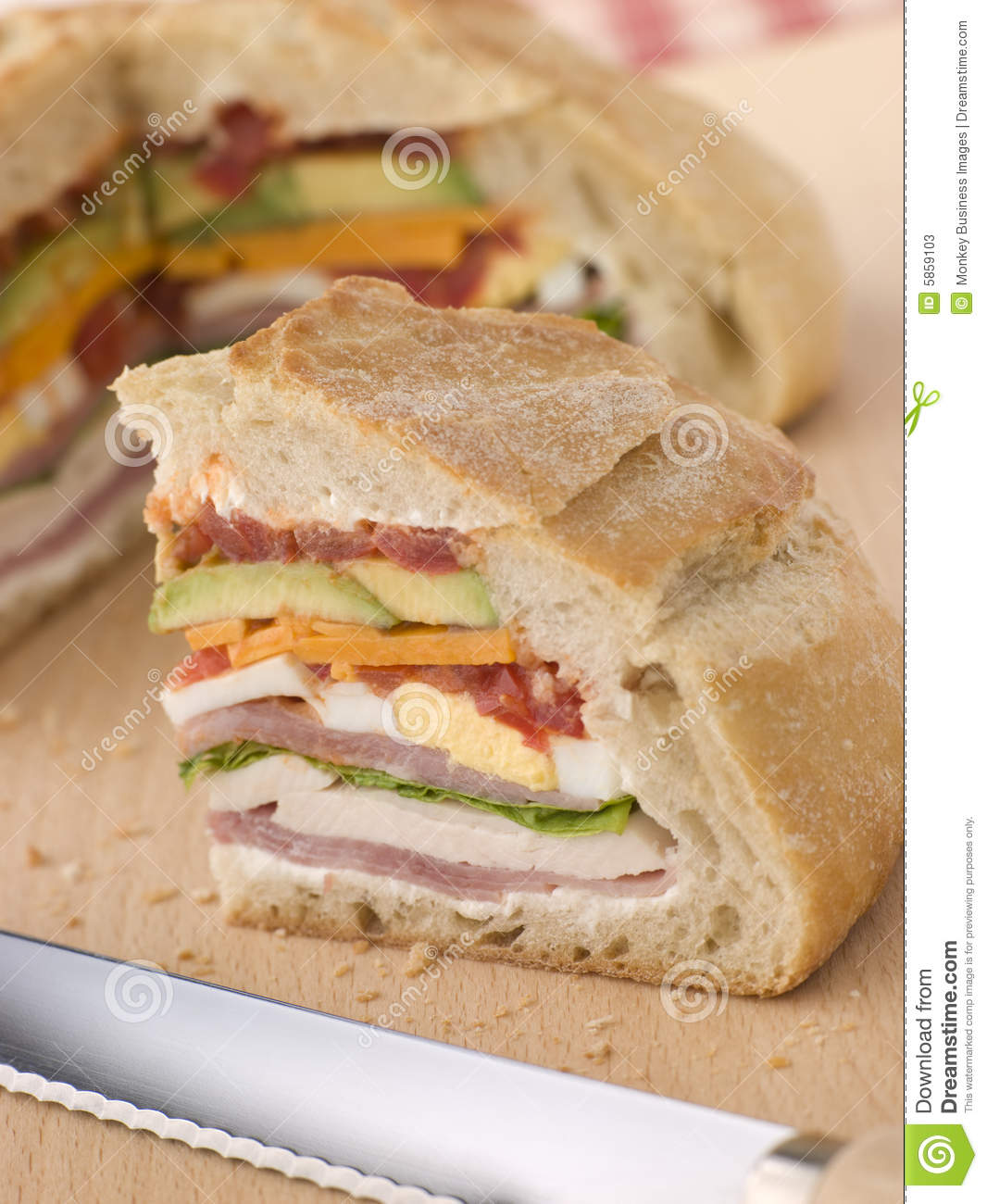 stuffed loaf sandwich stock photos image 5859103