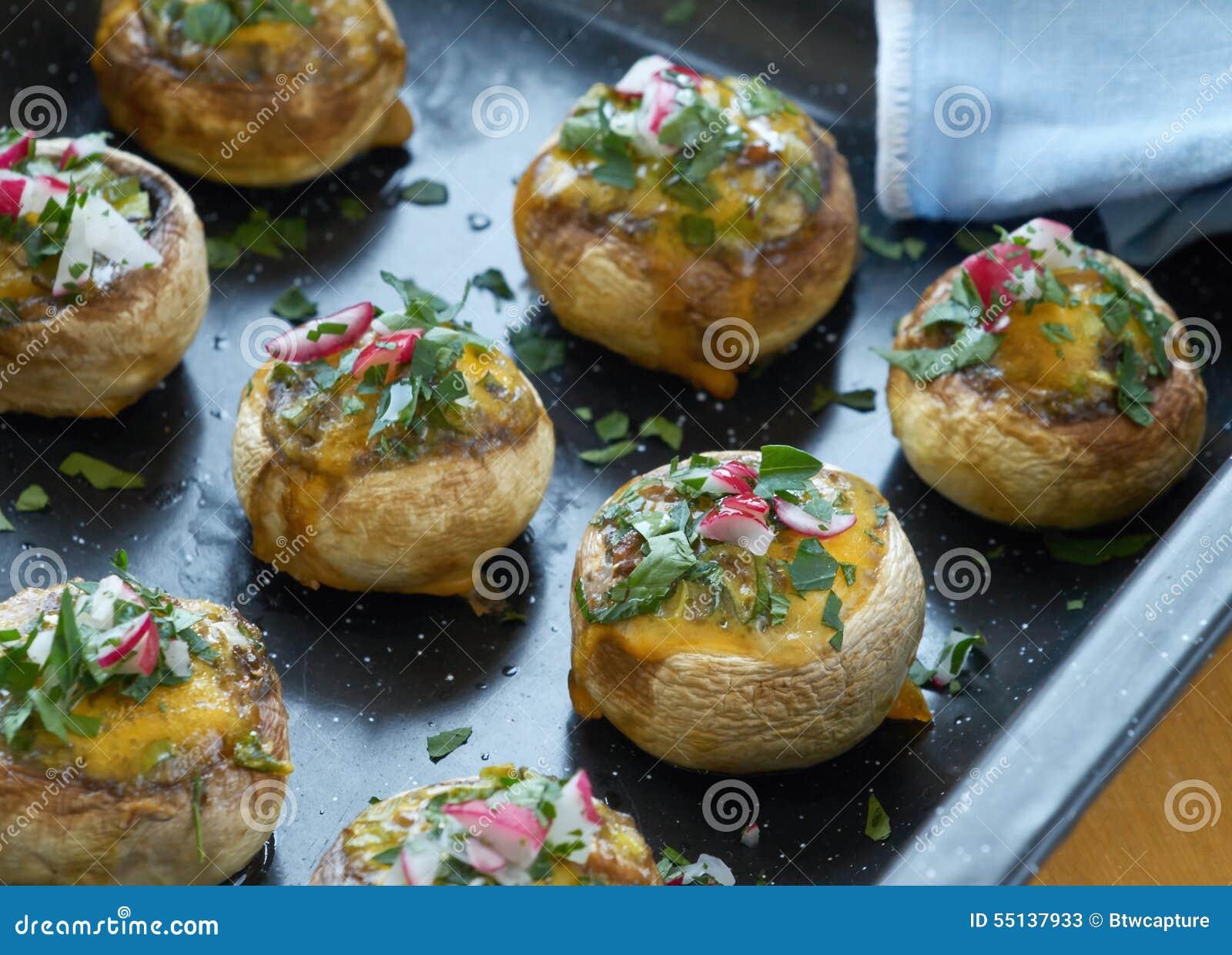Stuffed Mushrooms Stock Photo - Image: 55137933