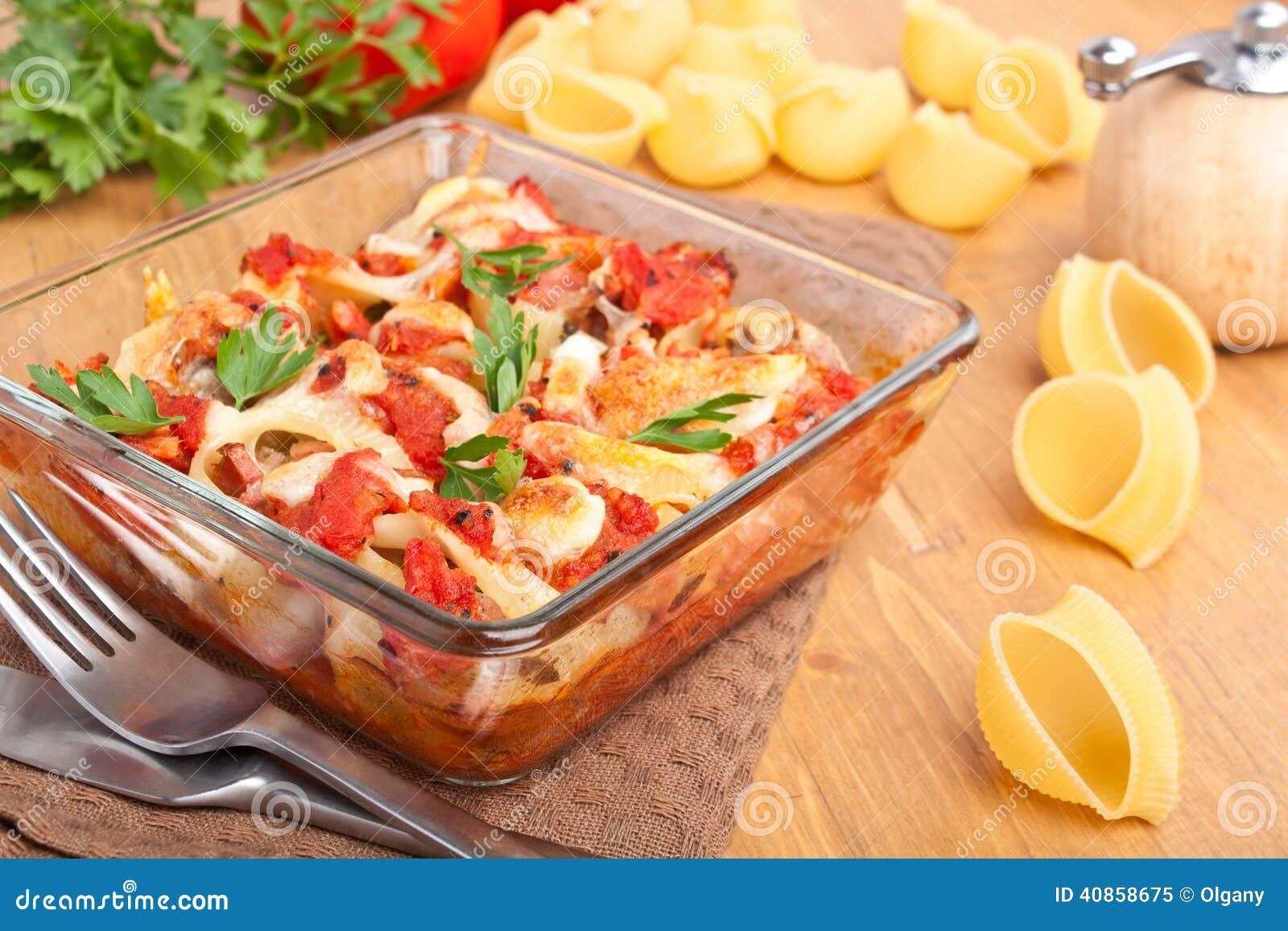 Stuffed Pasta Shells Stock Photo - Image: 40858675