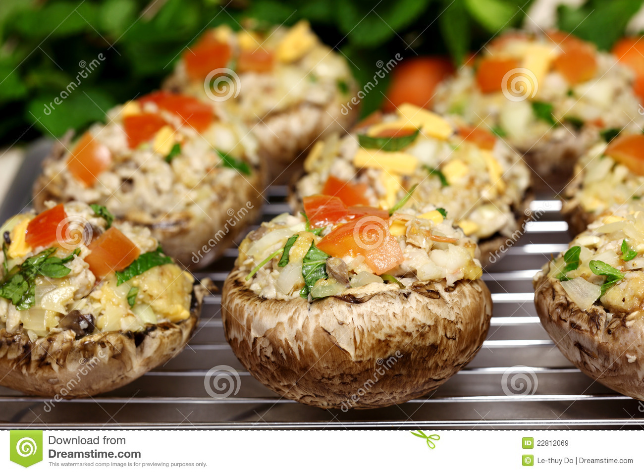 Stuffed Portabella Mushrooms Royalty Free Stock Images - Image ...