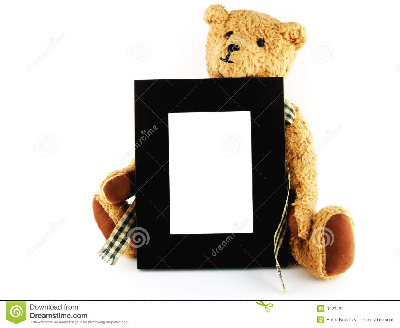 Stuffed Toy With Photo Frame Stock Photo Image Of Stuffed Blank